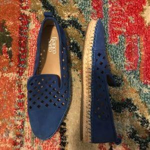 Franco Sarto blue suede espadrille loafer
